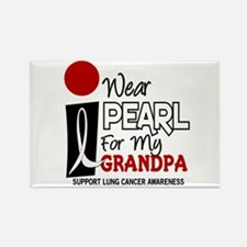 I Wear Pearl For My Grandpa 9 Rectangle Magnet