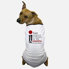I Wear Pearl For My Grandpa 9 Dog T-Shirt