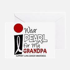 I Wear Pearl For My Grandpa 9 Greeting Card