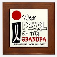 I Wear Pearl For My Grandpa 9 Framed Tile