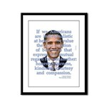 Obama Values Framed Panel Print