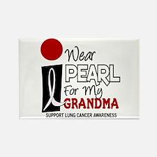 I Wear Pearl For My Grandma 9 Rectangle Magnet
