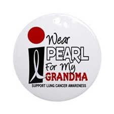 I Wear Pearl For My Grandma 9 Ornament (Round)