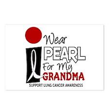 I Wear Pearl For My Grandma 9 Postcards (Package o