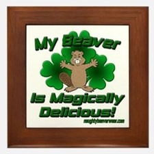 Beaver Is Magically Delicious Framed Tile