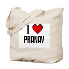 I LOVE PRANAV Tote Bag