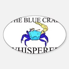 The Blue Crab Whisperer Oval Decal