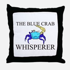 The Blue Crab Whisperer Throw Pillow