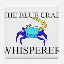 The Blue Crab Whisperer Tile Coaster