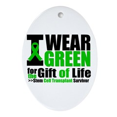 SCT I Wear Green Oval Ornament