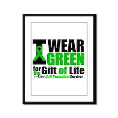 SCT I Wear Green Framed Panel Print