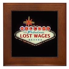 LOST WAGES Framed Tile