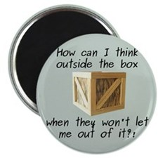 Think Outside the Box Magnet