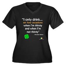 Brendan Behan Drinking Quote Women's Plus Size V-N