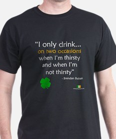 Brendan Behan Drinking Quote T-Shirt