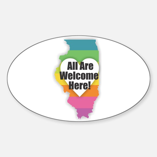 Illinois - All Are Welcome Here Decal