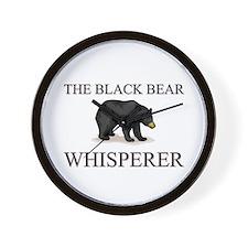 The Black Bear Whisperer Wall Clock