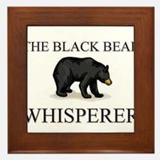 The Black Bear Whisperer Framed Tile