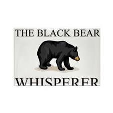 The Black Bear Whisperer Rectangle Magnet