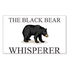 The Black Bear Whisperer Rectangle Decal