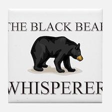 The Black Bear Whisperer Tile Coaster
