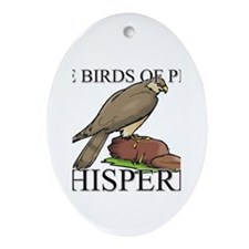 The Birds Of Prey Whisperer Oval Ornament