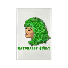 Shamrock Hair Naturally Curly Girl Rectangle Magne