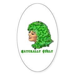 Shamrock Hair Naturally Curly Girl Decal