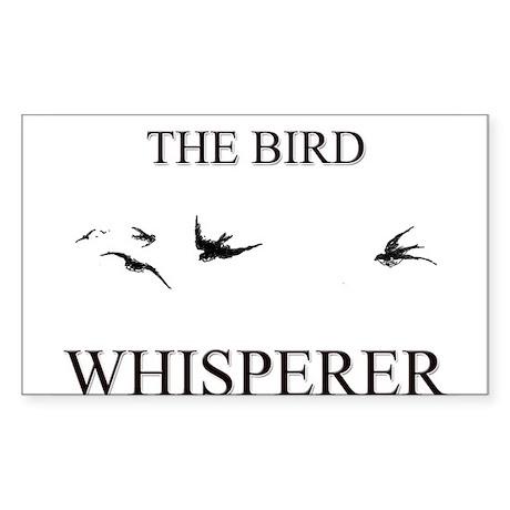 The Bird Whisperer Rectangle Sticker