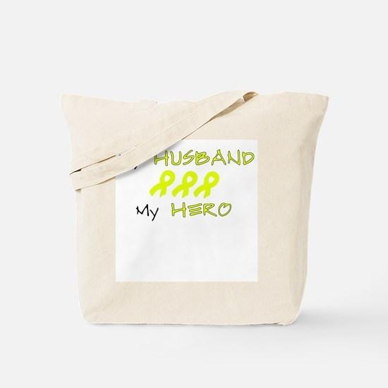 Hero Husband Yellow Tote Bag