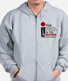 I Wear Pearl For My Mother 9 Zip Hoodie