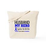 ColonCancerHero Husband Tote Bag