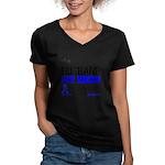 ColonCancerHero Husband Women's V-Neck Dark T-Shir
