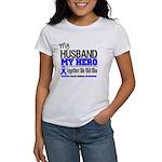 ColonCancerHero Husband Women's T-Shirt
