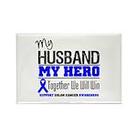 ColonCancerHero Husband Rectangle Magnet (10 pack)