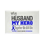 ColonCancerHero Husband Rectangle Magnet (100 pack