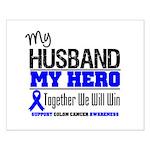 ColonCancerHero Husband Small Poster
