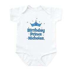 1st Birthday Prince Nicholas! Infant Bodysuit