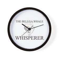 The Beluga Whale Whisperer Wall Clock
