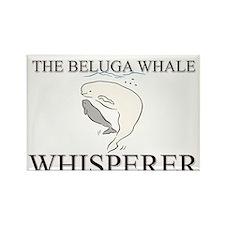 The Beluga Whale Whisperer Rectangle Magnet