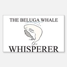 The Beluga Whale Whisperer Rectangle Decal