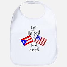 """Puerto Rican American"" Bib"
