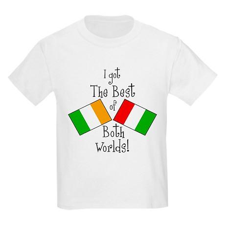 """Irish-Italian Kid"" Kids Light T-Shirt"