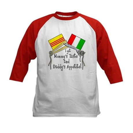 """Vietalian Kids - Food"" Kids Baseball Jersey"