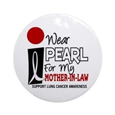 I Wear Pearl For My Mother-In-Law 9 Ornament (Roun