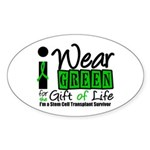 SCT I Wear Green Oval Sticker (50 pk)