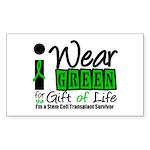 SCT I Wear Green Rectangle Sticker 50 pk)