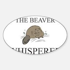 The Beaver Whisperer Oval Decal