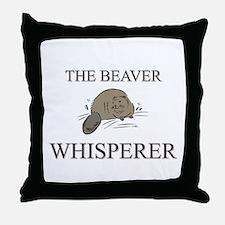 The Beaver Whisperer Throw Pillow