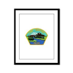 Lake Shastina Police Framed Panel Print